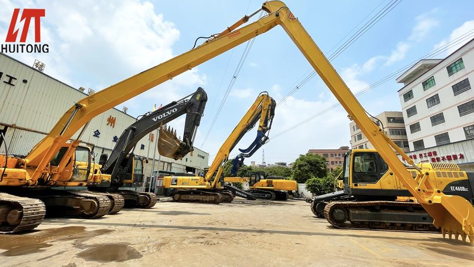 What is the reason for the price increase of the long front boom for excavator