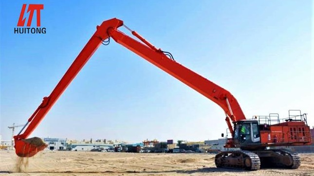 Excavator long reach fronts can still be used like this