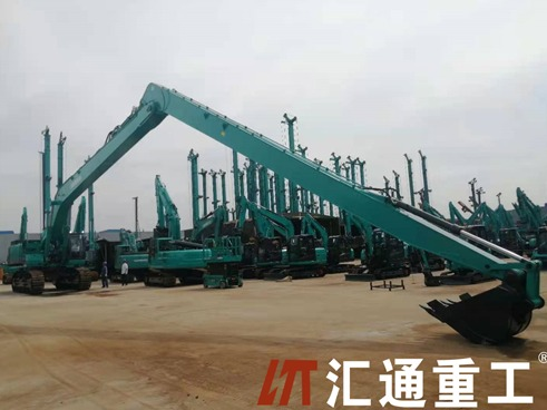 Can the excavator long fronts boom be used for this project