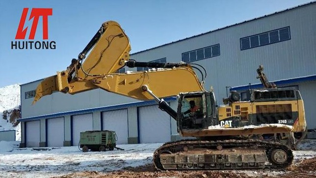 See how the excavator ripper boom is used to build the railway