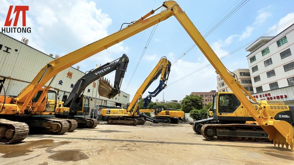 Excavator long fronts boom manufacturers can also save costs