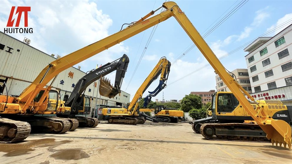How to repair the long reach fronts excavating arm